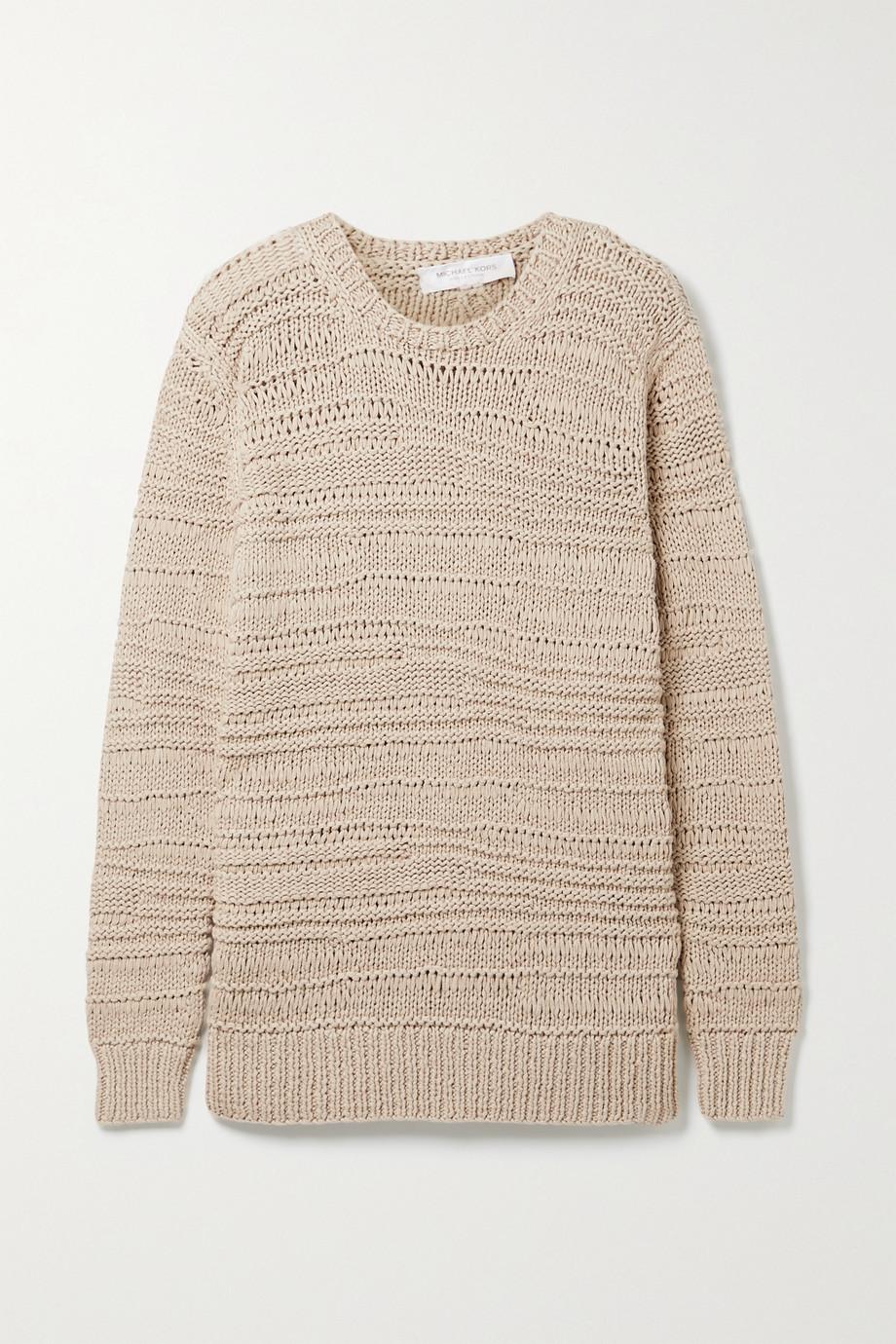 Michael Kors Collection Pull en coton à mailles ajourées