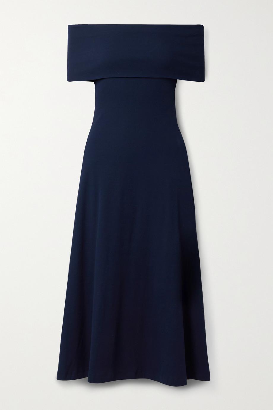 Rosetta Getty Off-the-shoulder cotton-jersey midi dress