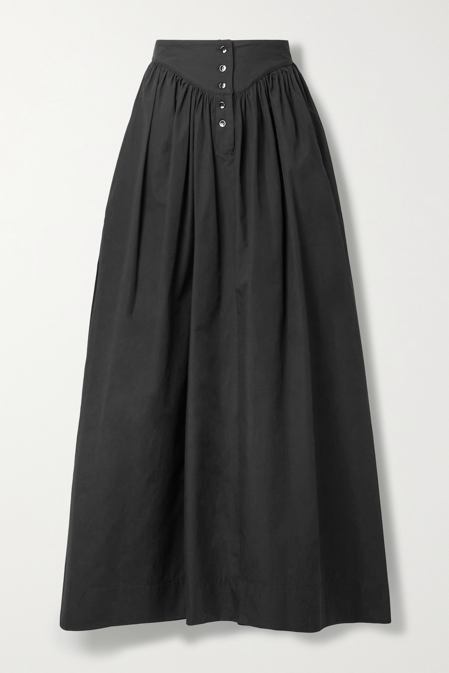 Rosetta Getty Gathered cotton-poplin maxi skirt