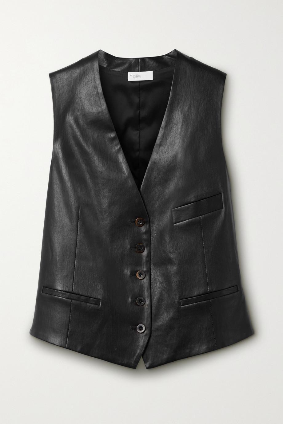 Rosetta Getty Leather vest