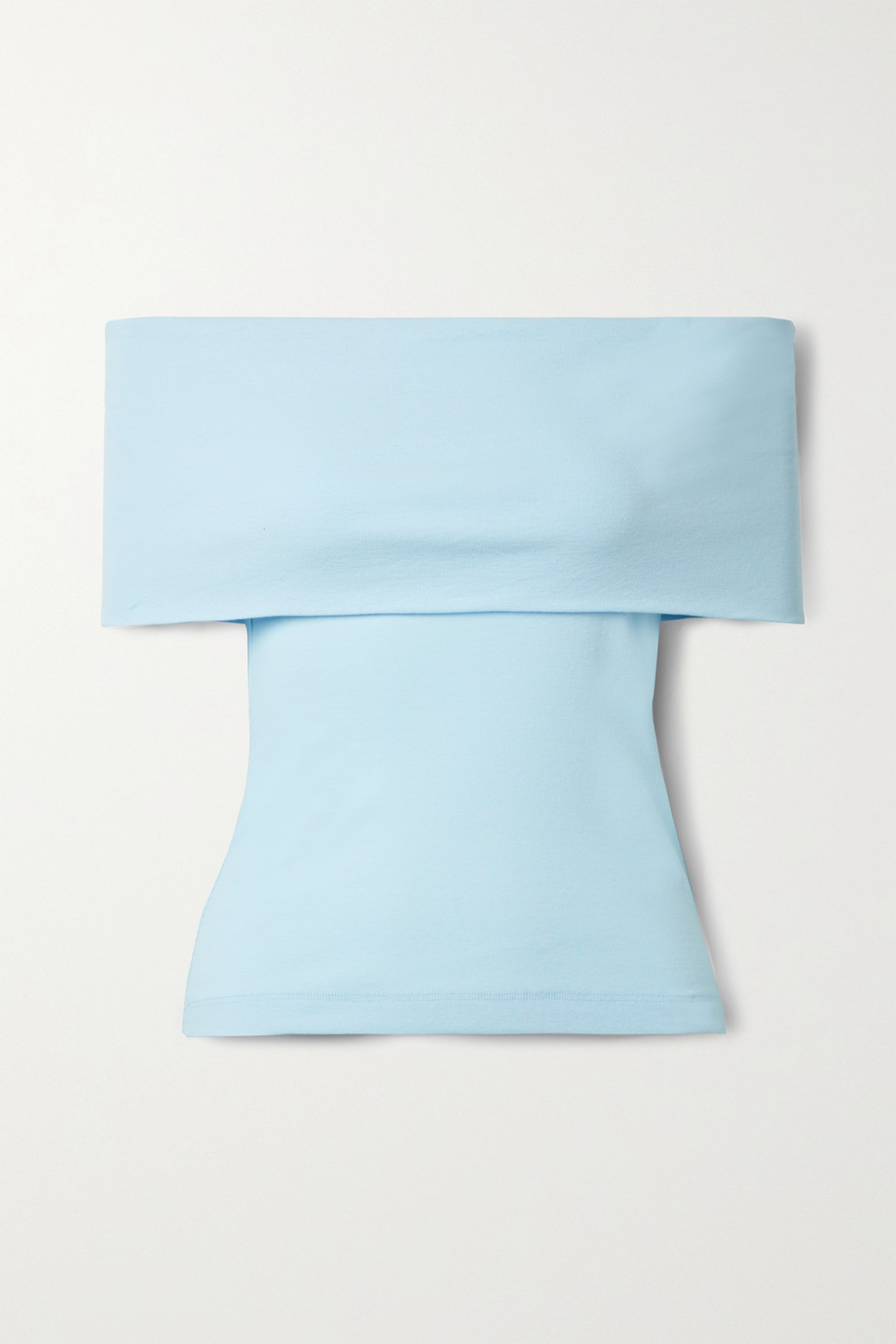 Rosetta Getty Off-the-shoulder cotton-jersey top