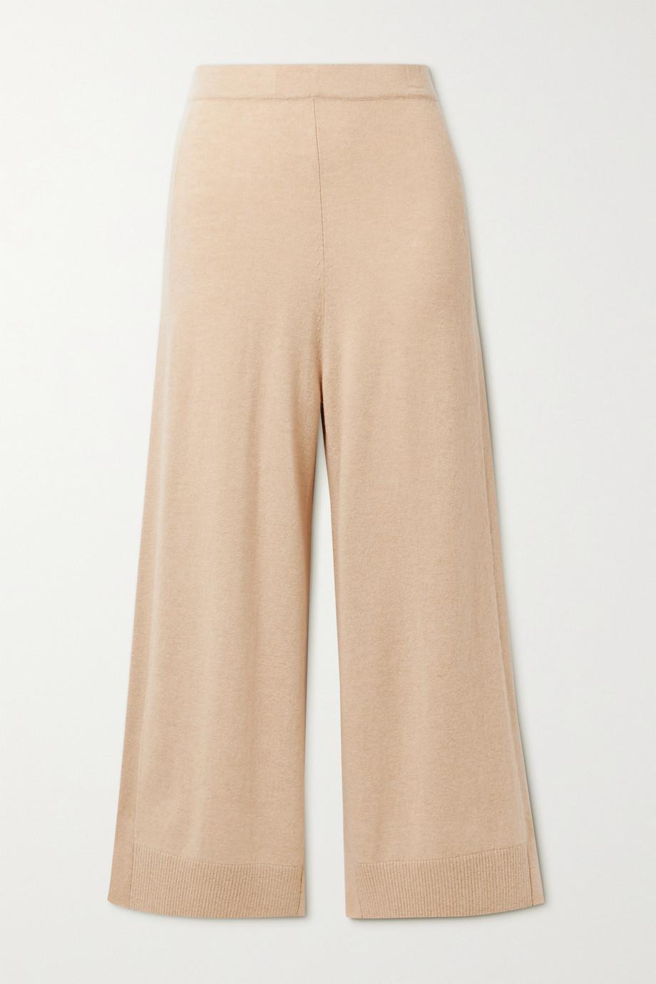 Rosetta Getty Cropped cashmere wide-leg pants