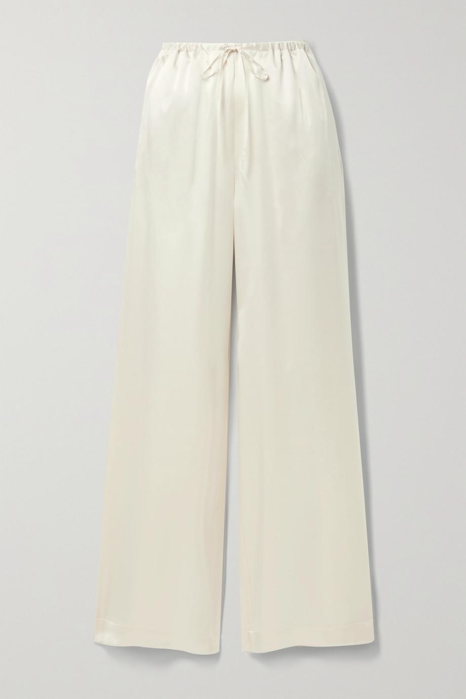 Rosetta Getty Silk-satin wide-leg pants