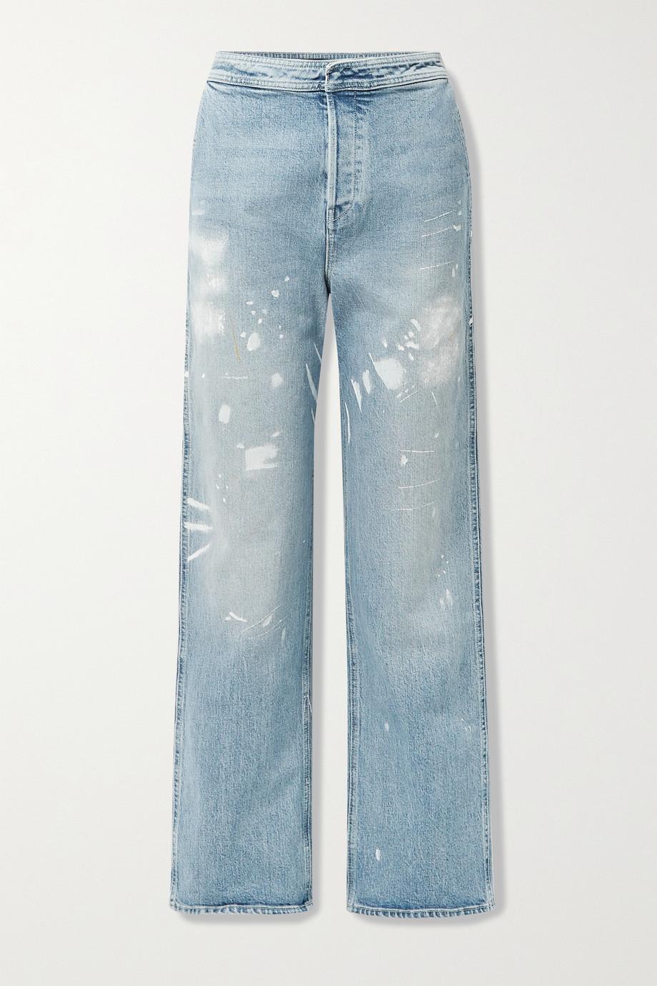 RtA Manon printed high-rise wide-leg jeans