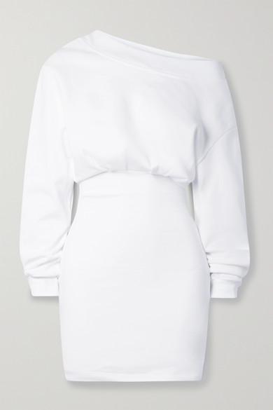 Rta RACHELE ONE-SHOULDER COTTON-JERSEY MINI DRESS