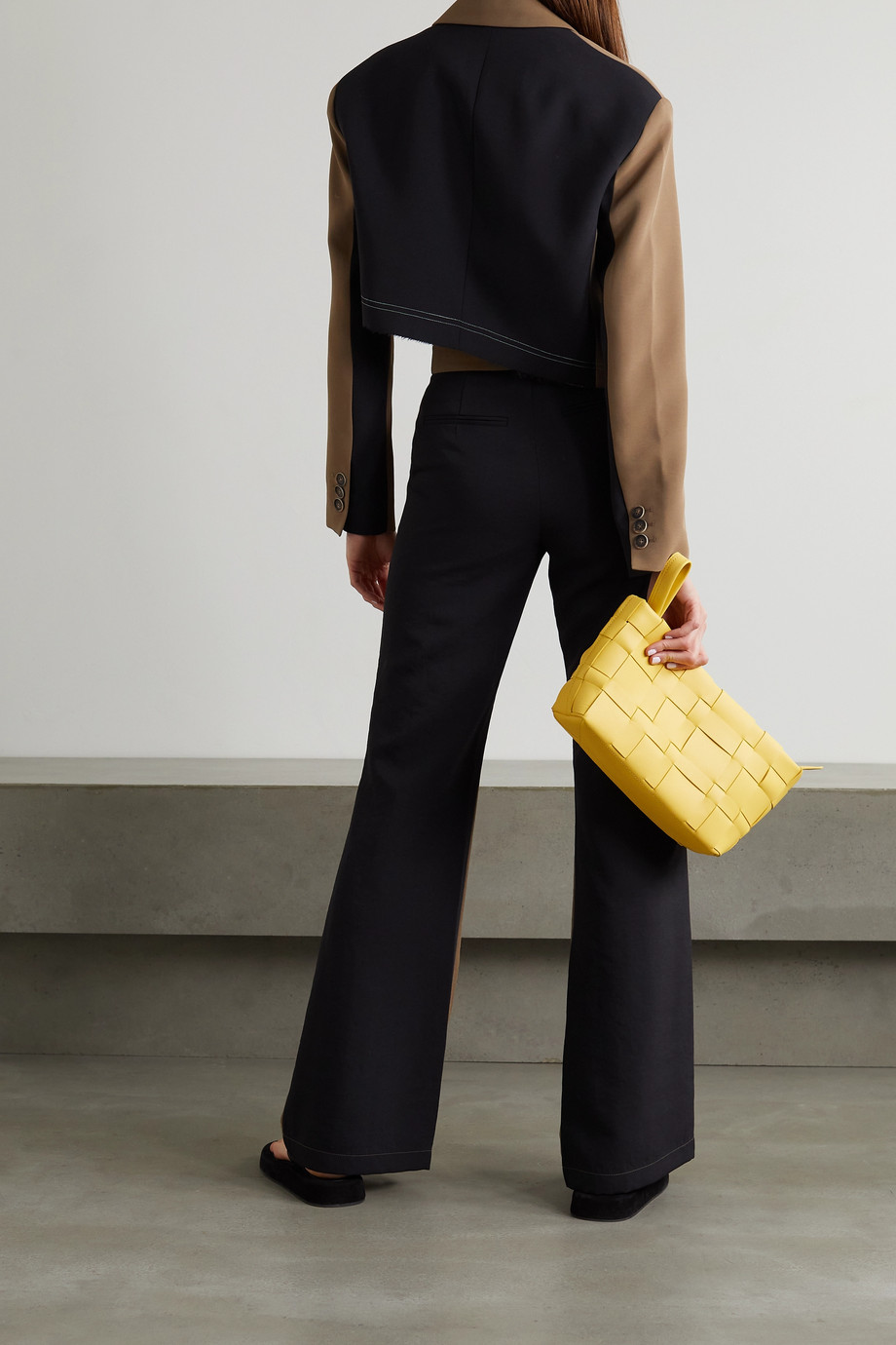 Andersson Bell Saatchi two-tone twill flared pants