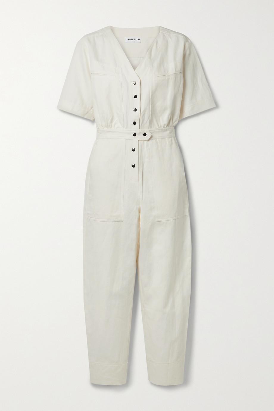 APIECE APART Zeolight linen and cotton-blend twill jumpsuit