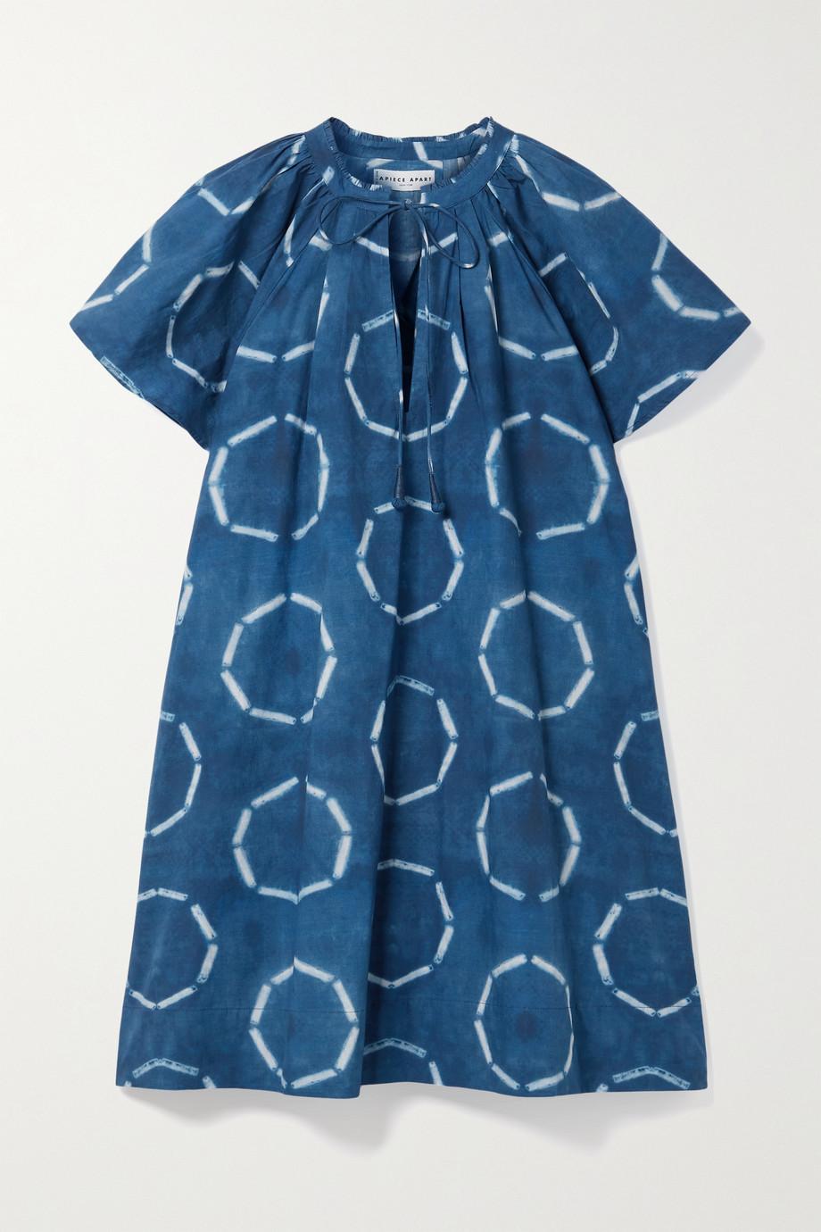 APIECE APART Sur gathered tie-dyed organic cotton-poplin mini dress