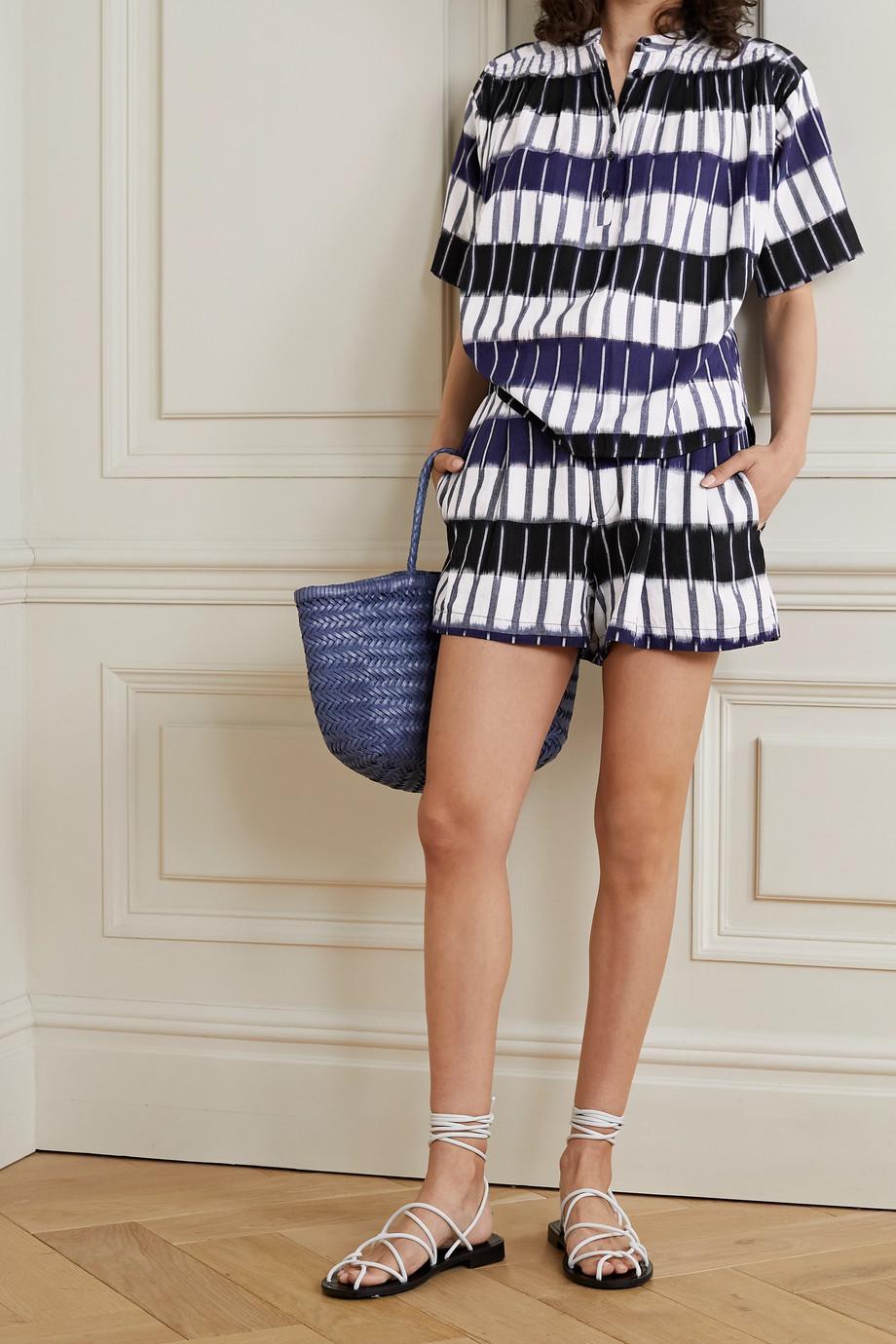 APIECE APART Taiyana striped cotton shorts