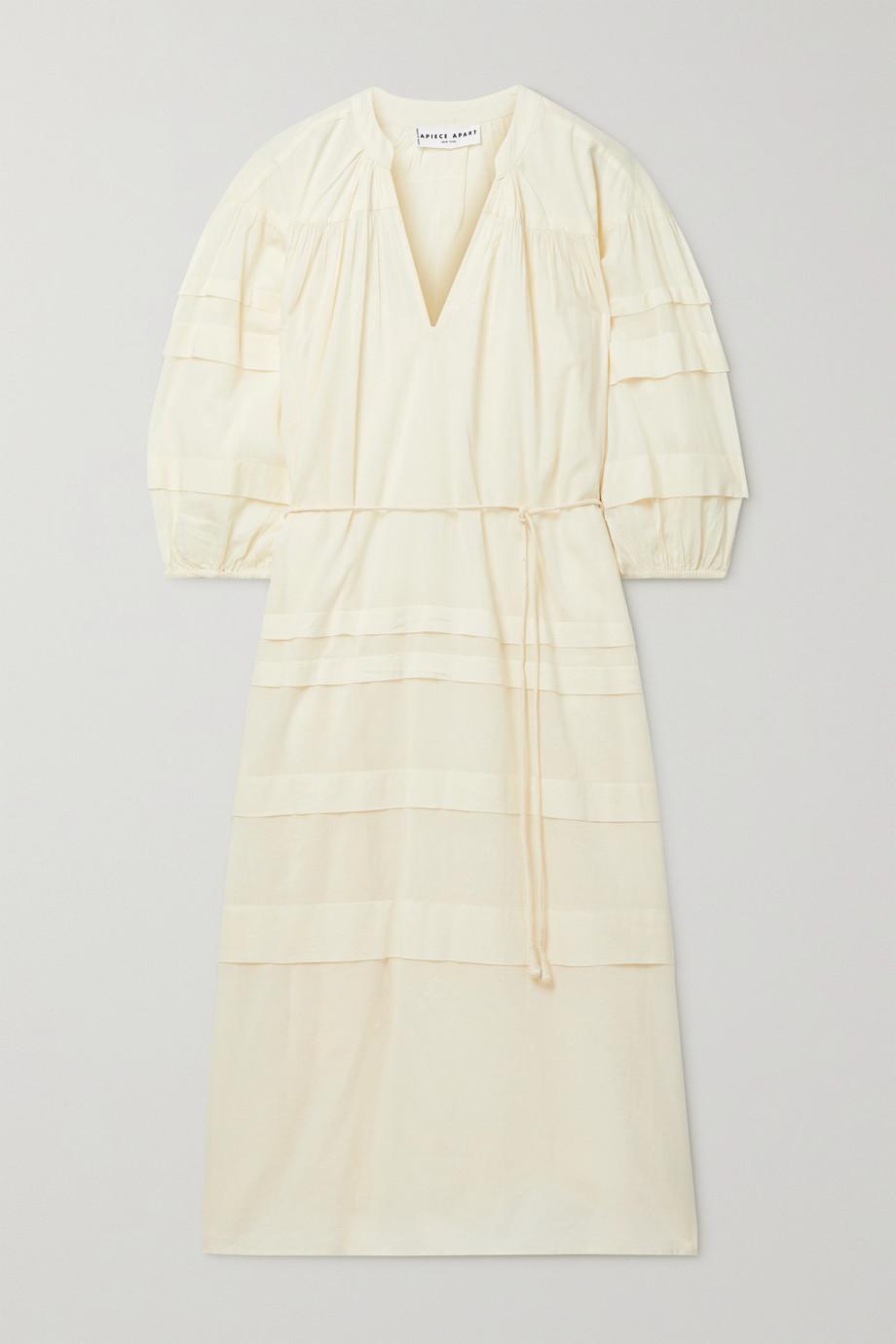 APIECE APART Mari pintucked organic cotton-voile midi dress