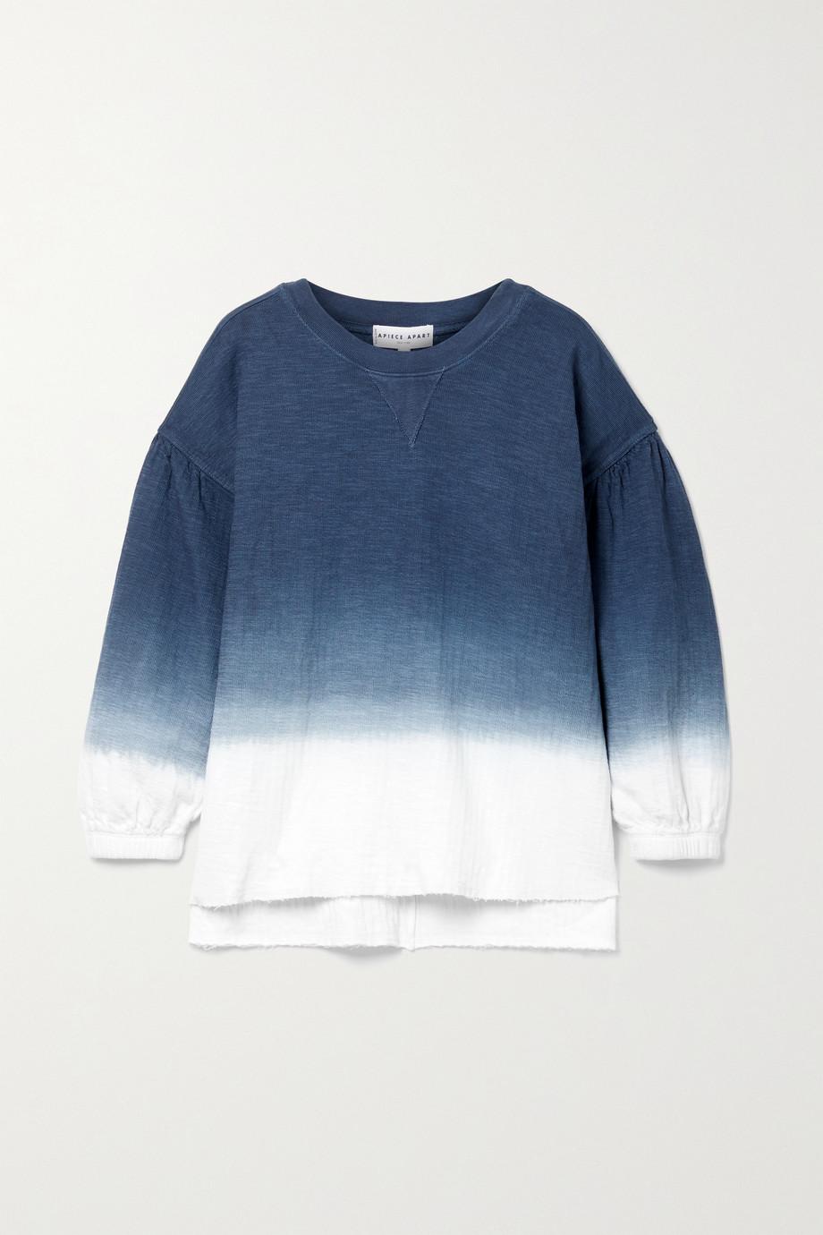 APIECE APART Delle ombré organic cotton-jersey sweatshirt