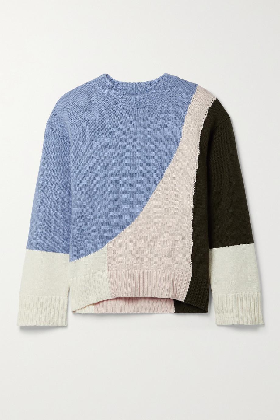 APIECE APART Shasta color-block organic cotton and cashmere-blend sweater