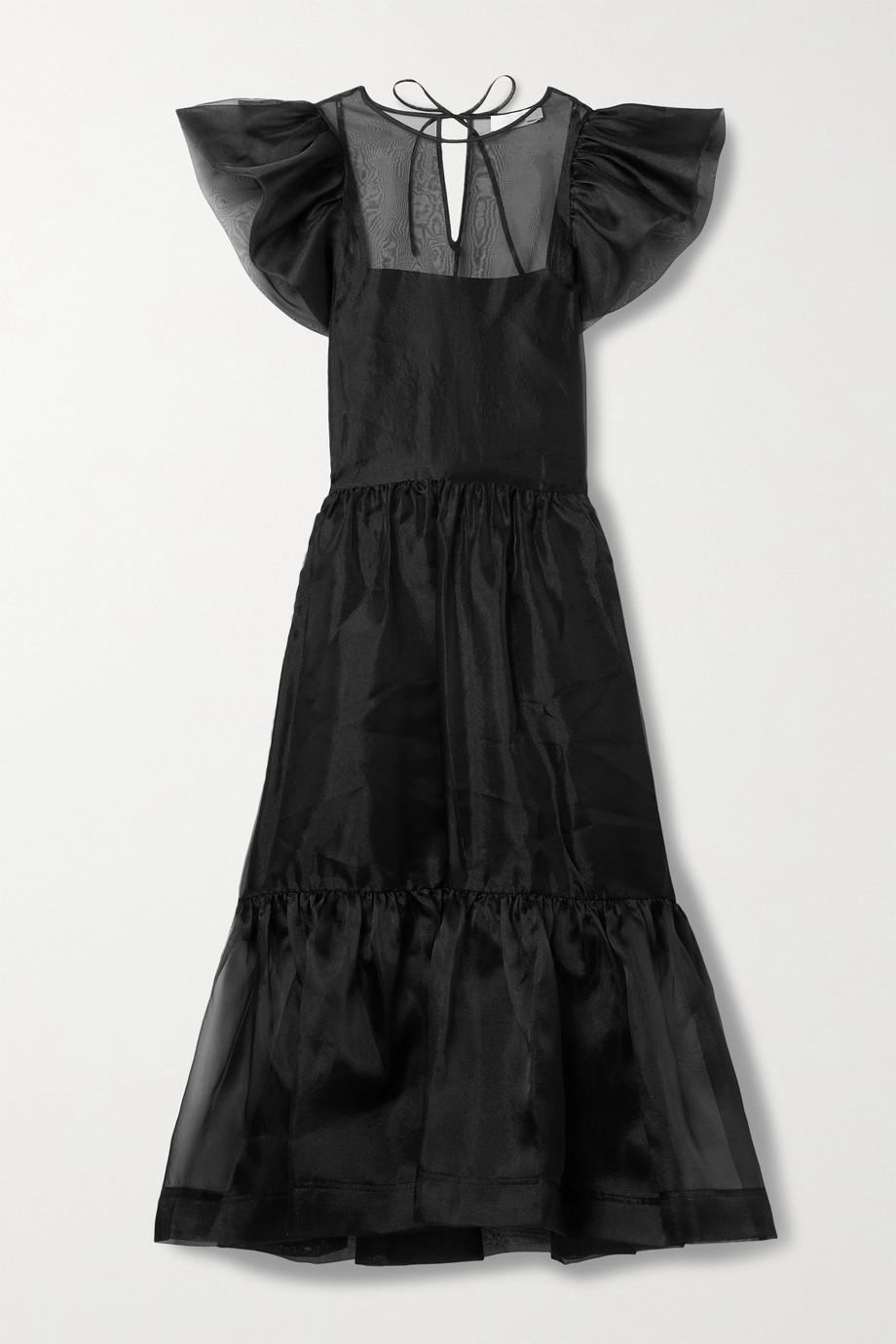 Jonathan Simkhai Ines ruffled tiered recycled organza midi dress