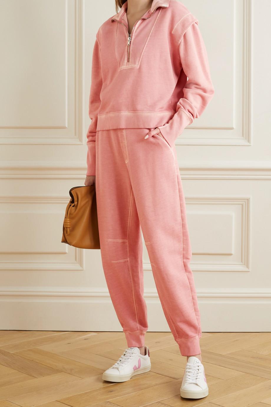 Veronica Beard Pantalon de survêtement en molleton de coton Preslee