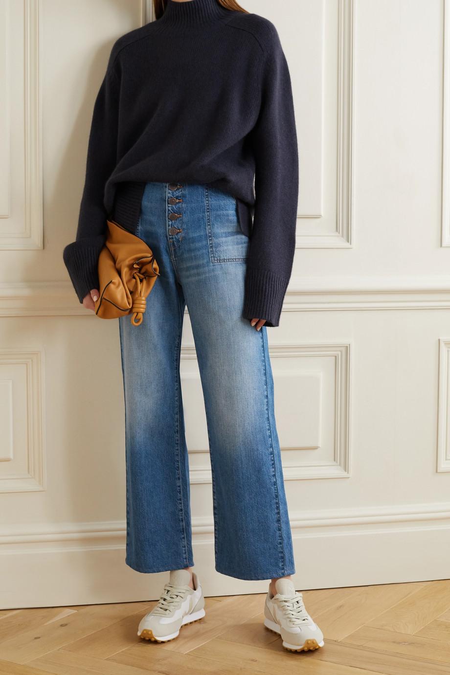 Veronica Beard Jean large raccourci taille haute Crosbie