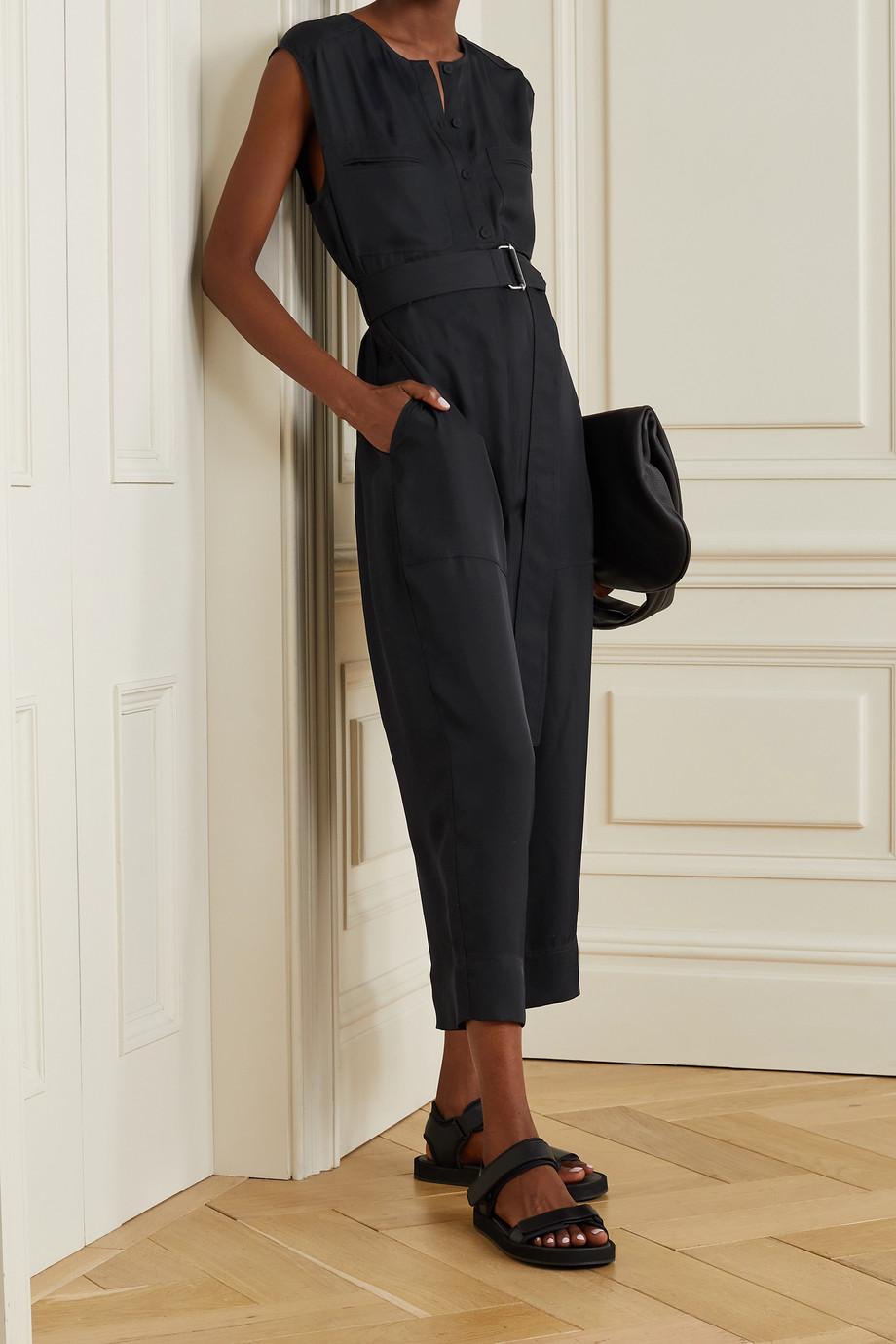 Theory Combi-pantalon raccourcie en serge à ceinture