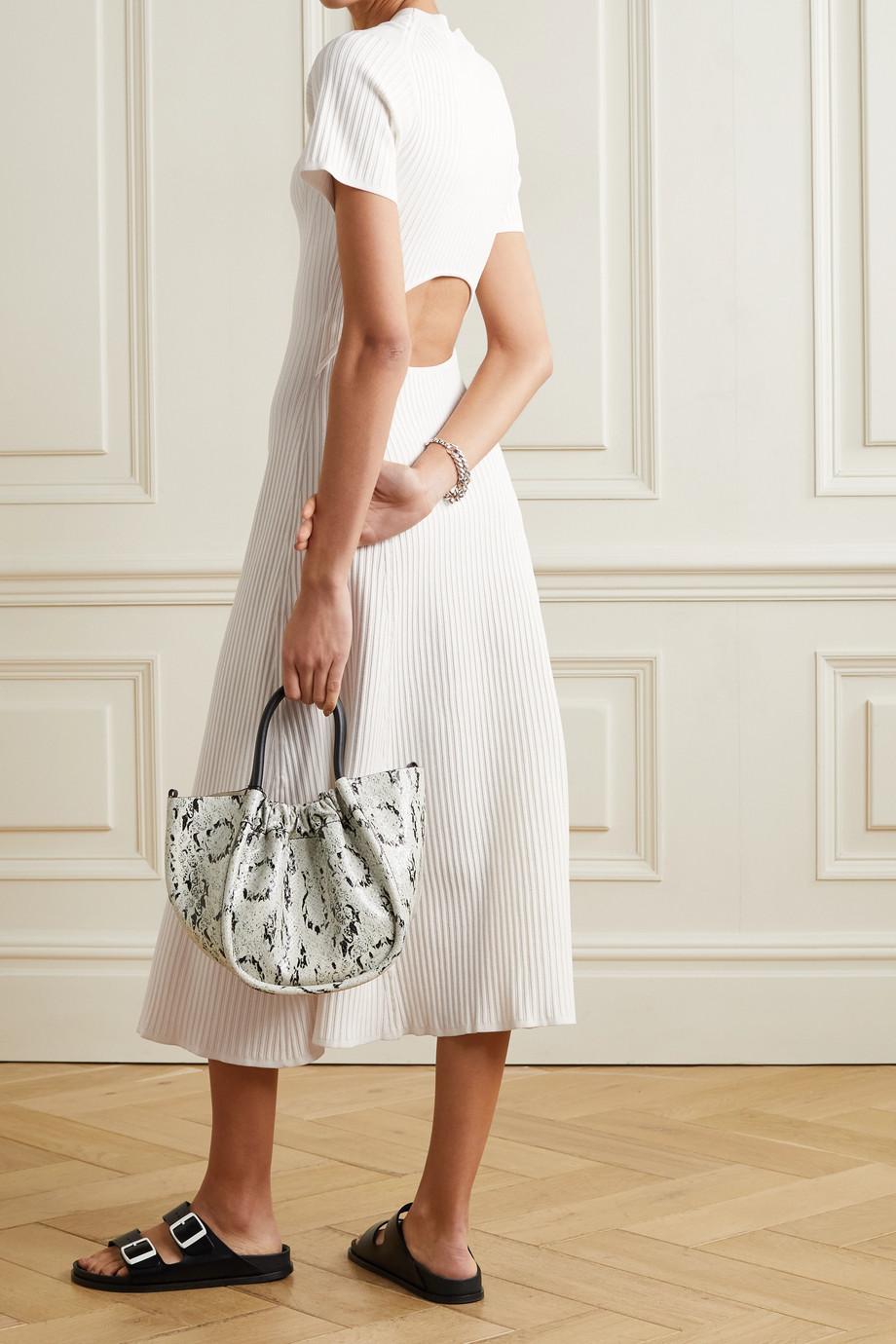 Proenza Schouler White Label Cutout ribbed-knit midi dress