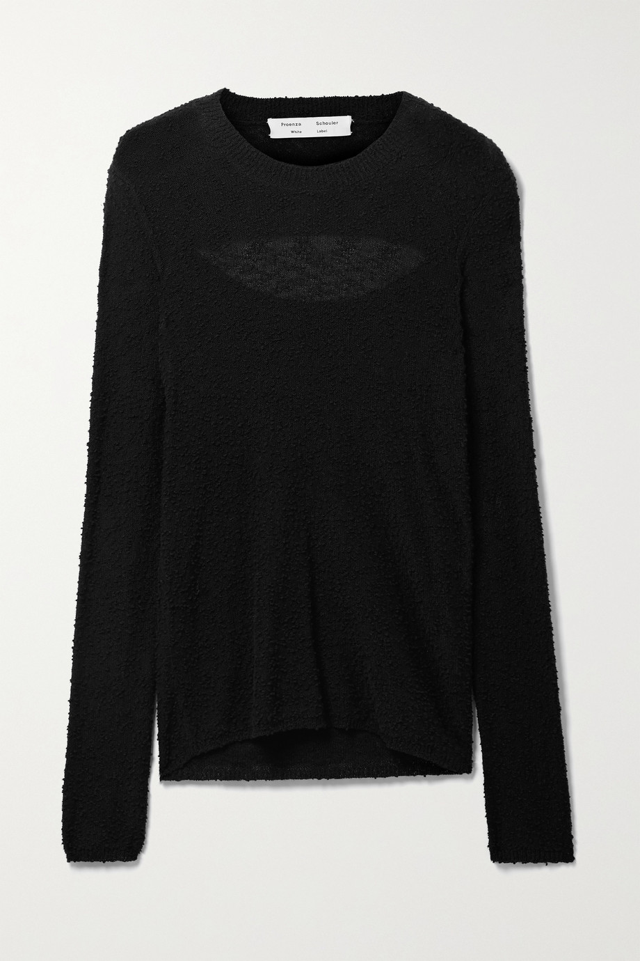 Proenza Schouler White Label Cutout bouclé sweater