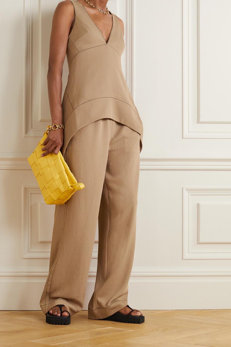 Proenza Schouler White Label Piqué straight-leg pants