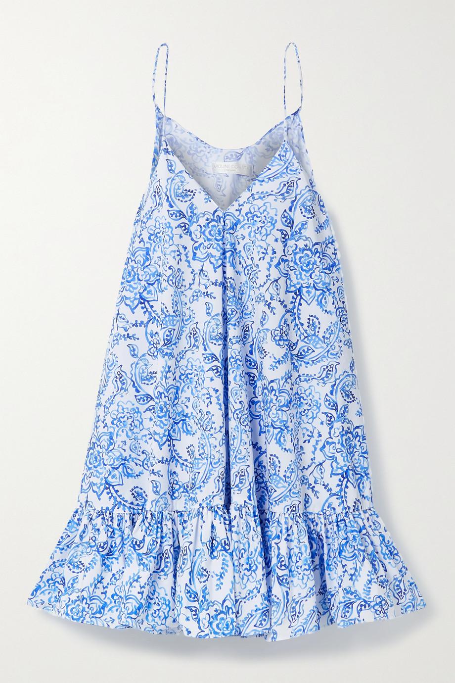 Caroline Constas Laurel ruffled floral-print cotton-blend poplin mini dress