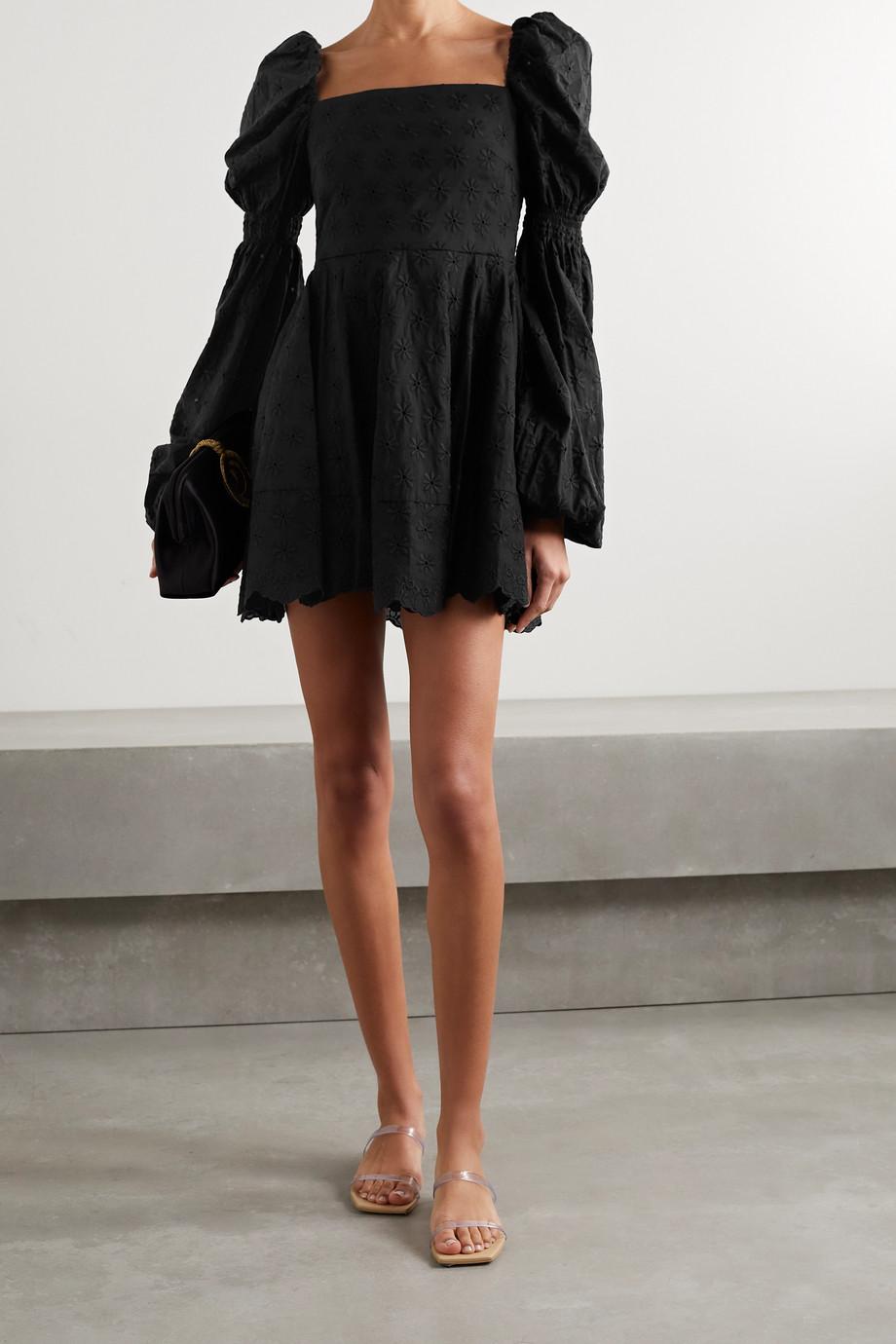 Caroline Constas Wren scalloped broderie anglaise cotton-voile mini dress