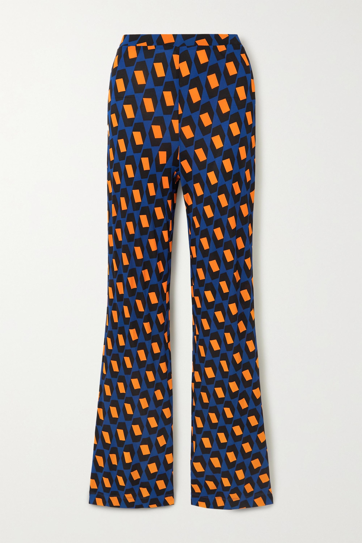 Diane von Furstenberg Caspian printed jersey flared pants