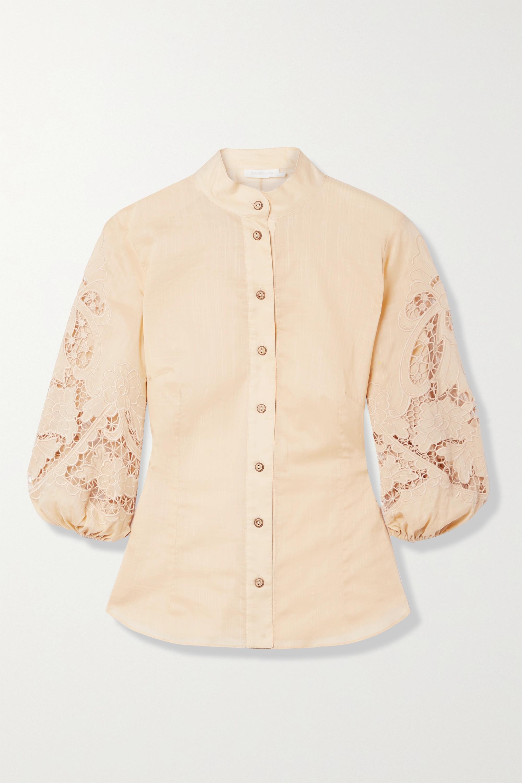 Zimmermann Brighton broderie anglaise cotton blouse