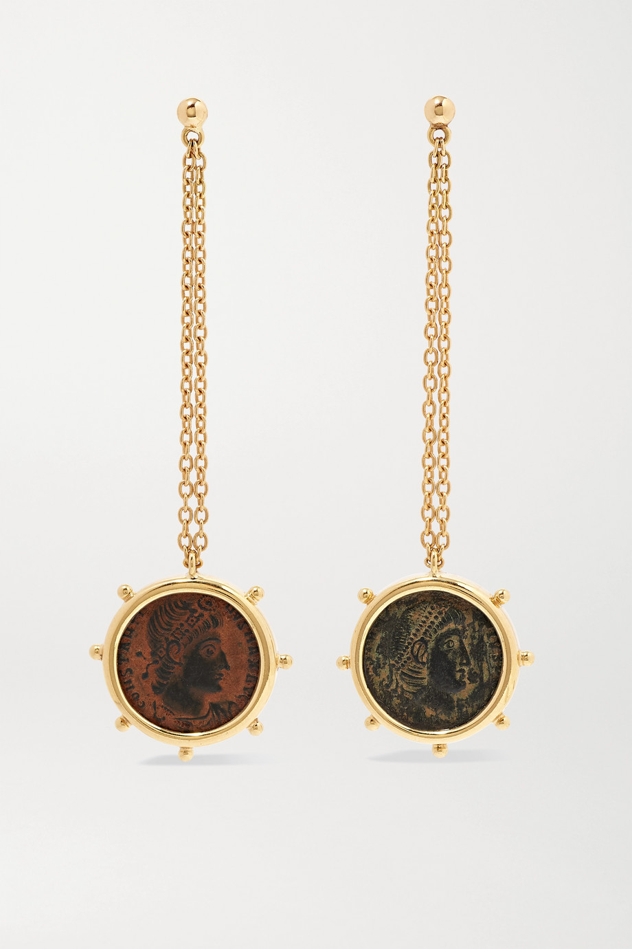 Dubini Constantine 18-karat gold and bronze earrings