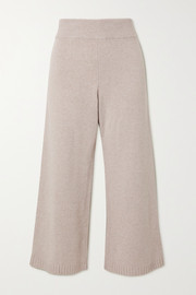 LESET Zoe cropped wool-blend wide-leg pants