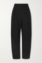 LESET Rio cropped straight-leg stretch-ponte pants