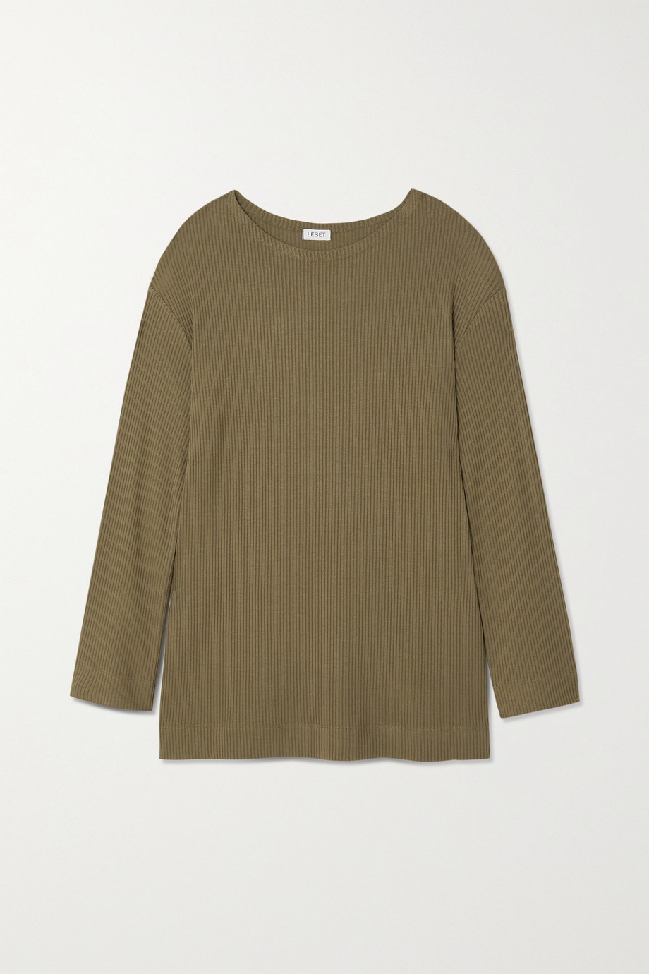 LESET Ali ribbed stretch-knit top