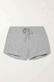 LESET Willow brushed waffle-knit shorts