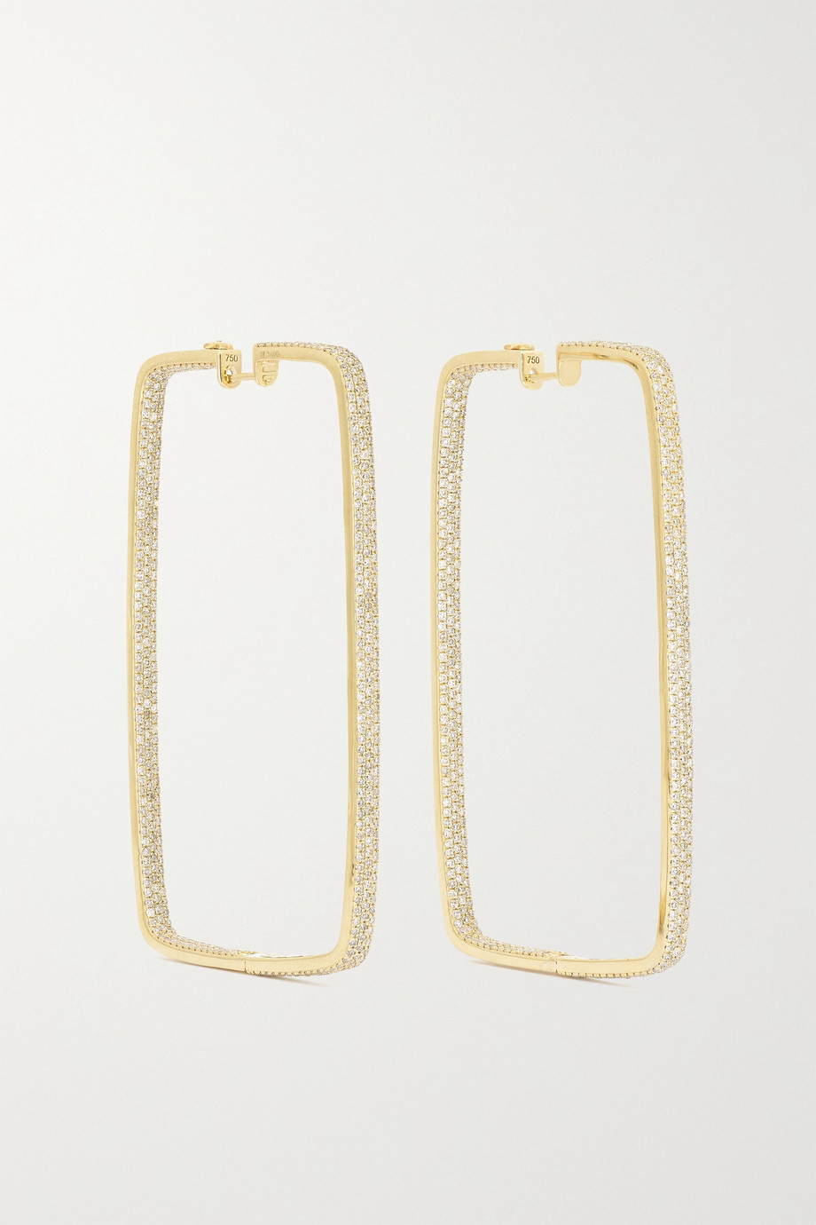 OFIRA 18-karat gold diamond earrings