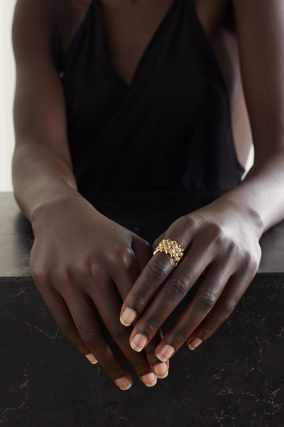 OFIRA Tattoo 18-karat gold diamond ring