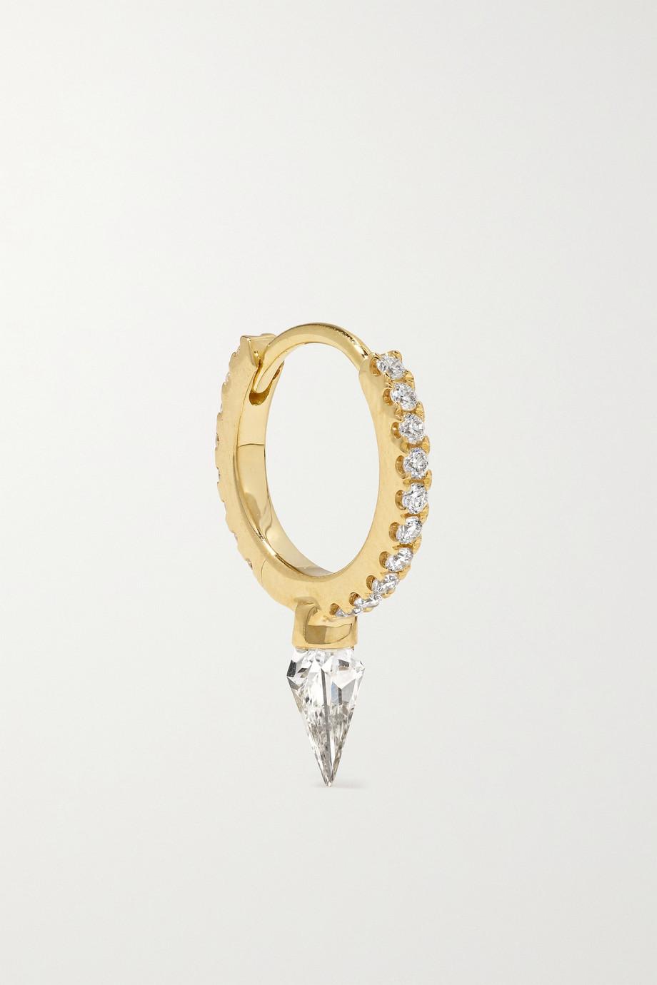 MARIA TASH 8mm Eternity Spike 18-karat gold diamond hoop earring