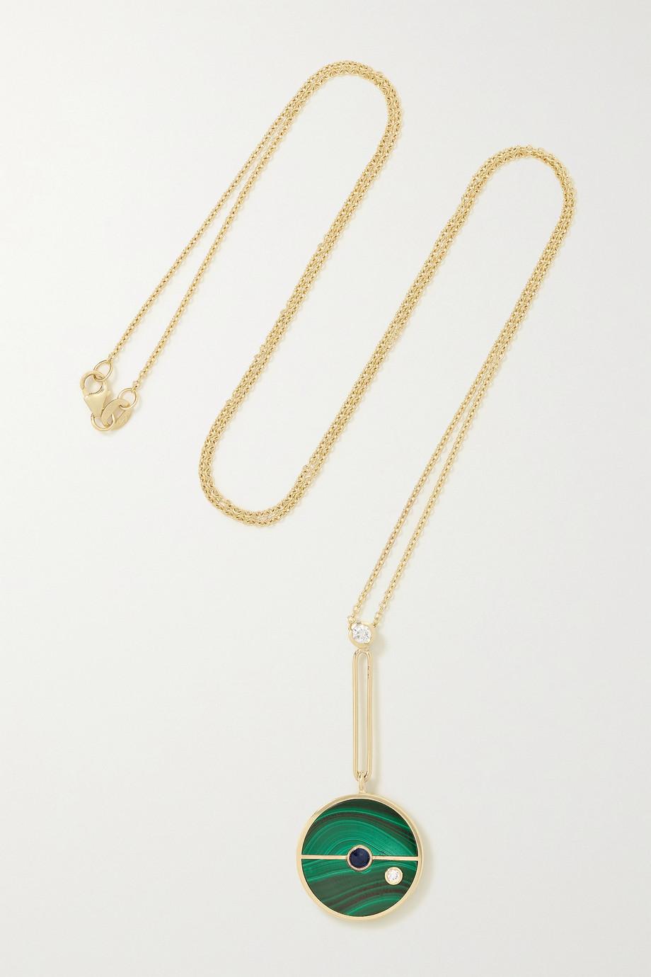 Retrouvaí Compass 14-karat gold multi-stone necklace