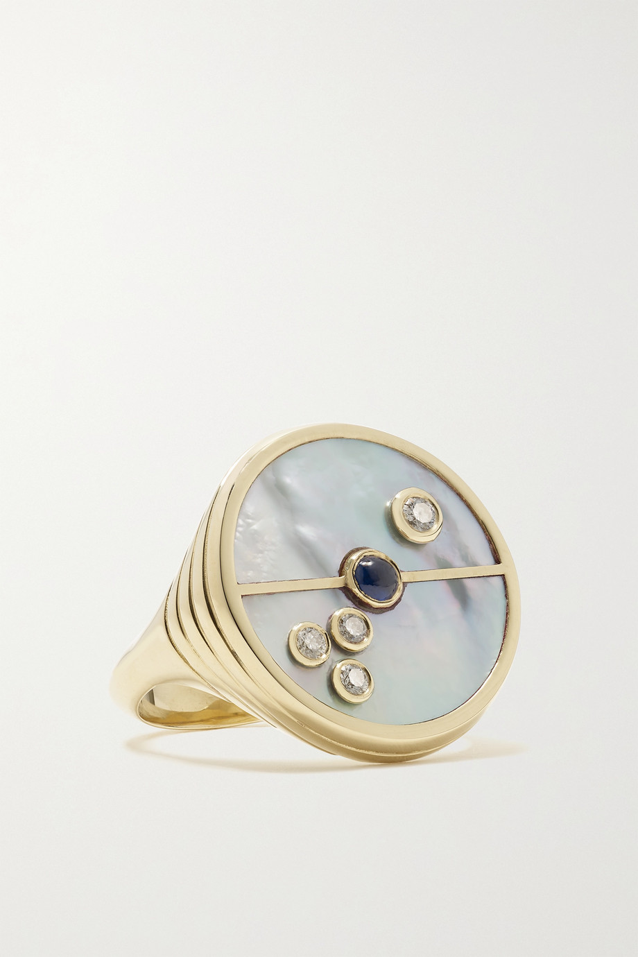 Retrouvaí Compass 14-karat gold multi-stone ring