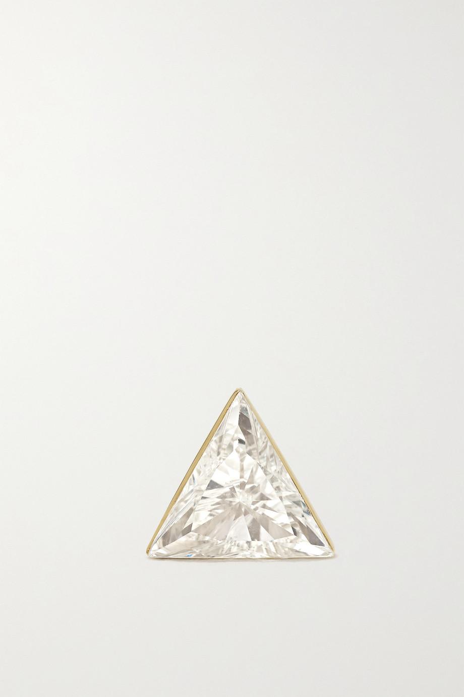 MARIA TASH 5mm Invisible 18-karat gold diamond earring