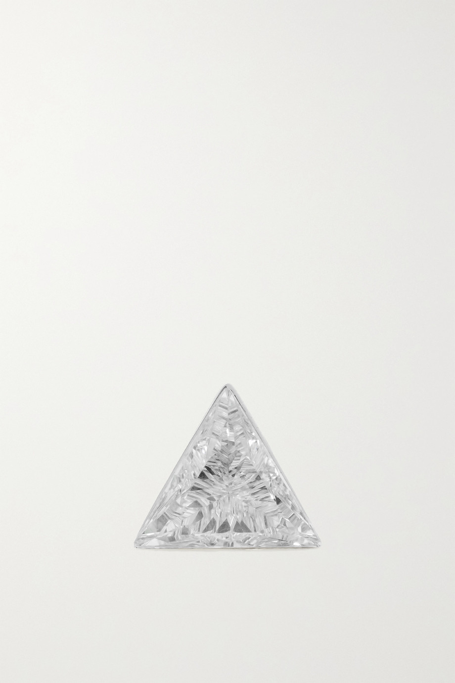 MARIA TASH 5mm Invisible 18-karat white gold diamond earring