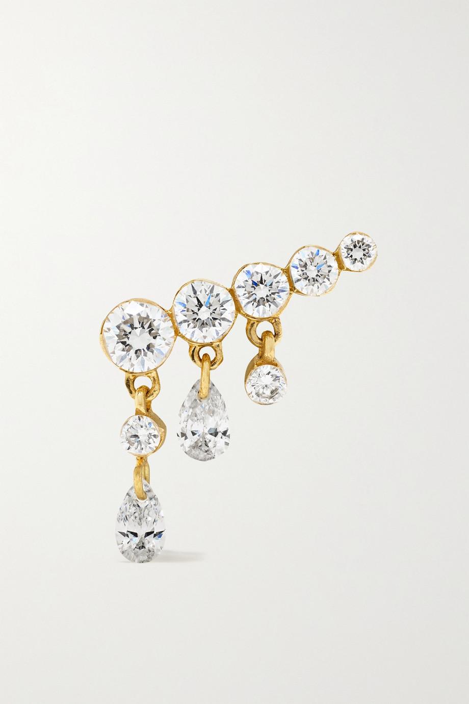 MARIA TASH Boucle d'oreille en or 18 carats et diamants Invisible Crescendo 11 mm