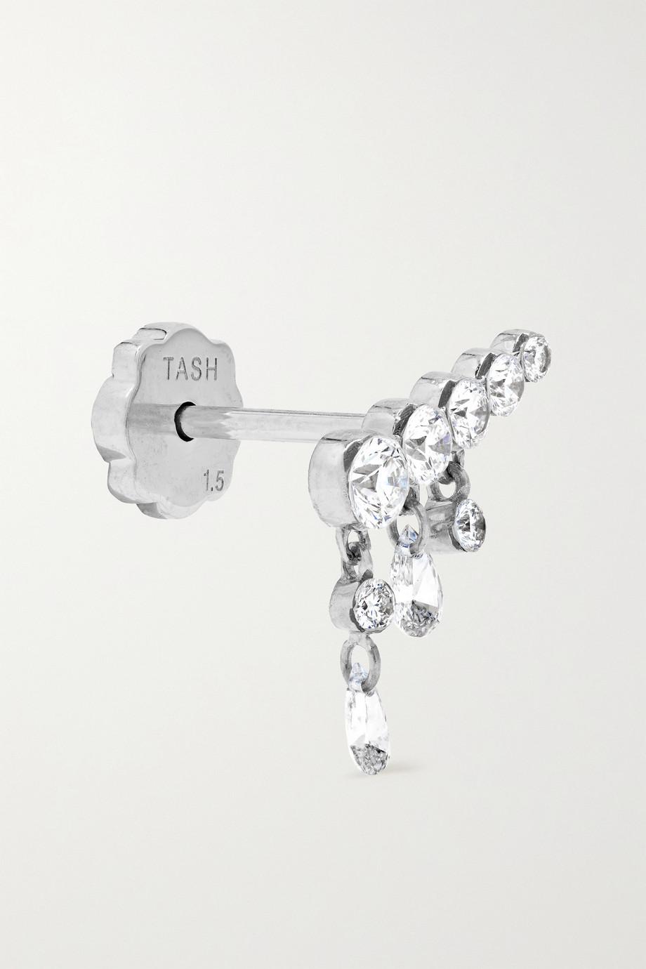 MARIA TASH 11mm Invisible Crescendo 18-karat white gold diamond earring