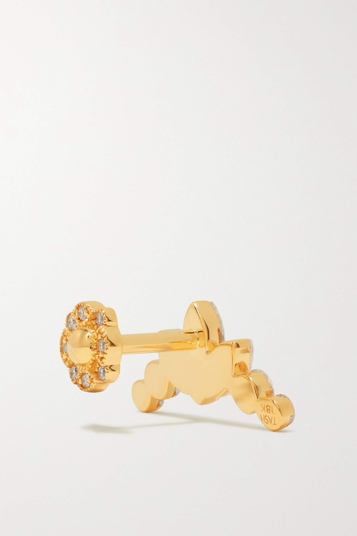 MARIA TASH Invisible Lotus Garland Ohrring aus 18 Karat Gold mit Diamanten