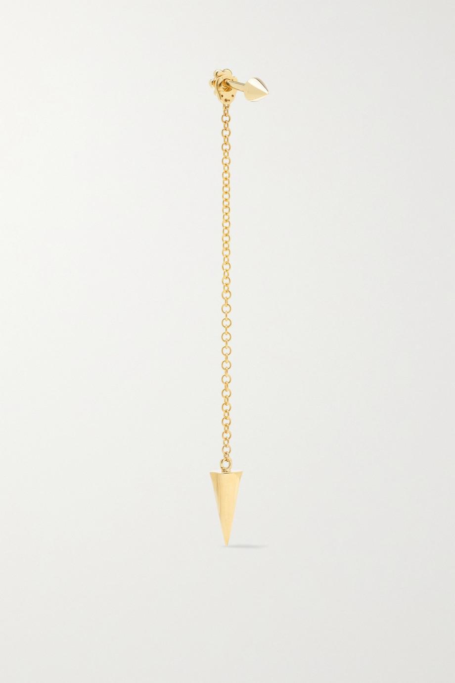 MARIA TASH 40mm Pendulum Spike 14-karat gold earring