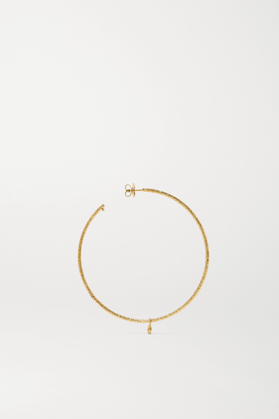 Octavia Elizabeth + NET SUSTAIN Large Nesting Gem 18-karat recycled gold diamond hoop earrings