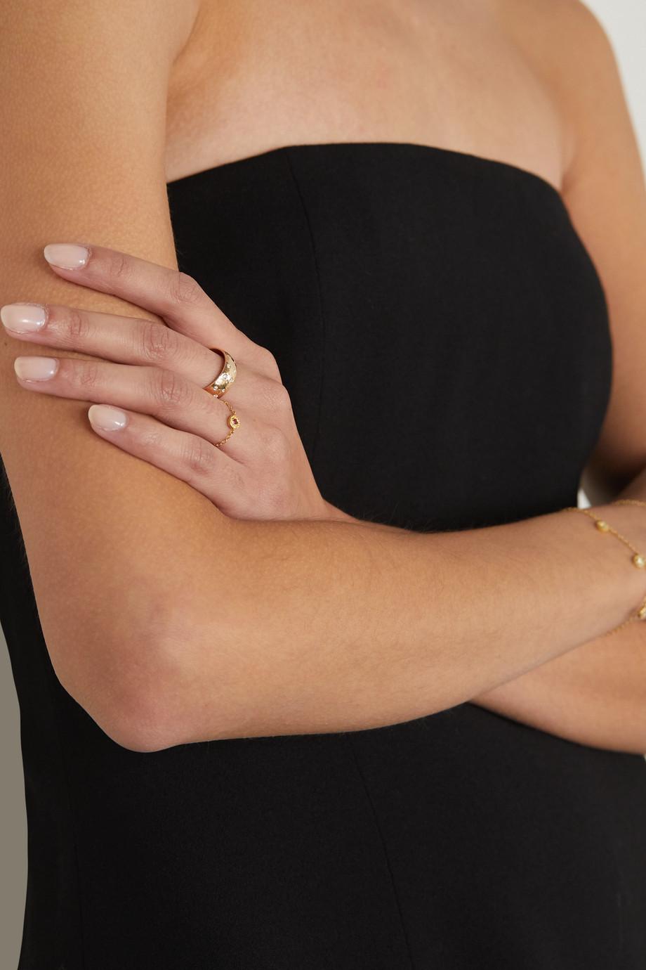 Octavia Elizabeth Étoile 18-karat gold diamond ring