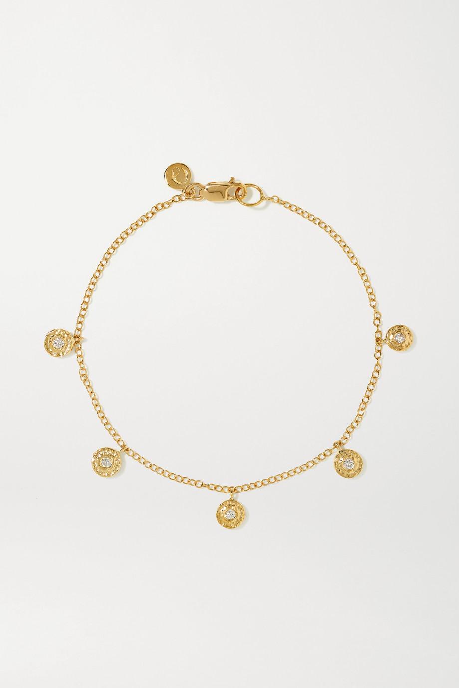 Octavia Elizabeth + NET SUSTAIN Nesting Gem 18-karat recycled gold diamond bracelet