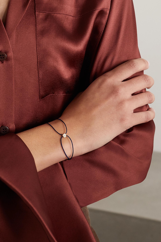 Octavia Elizabeth + NET SUSTAIN Parachute Nesting Gem 18-karat recycled gold, diamond and cord bracelet