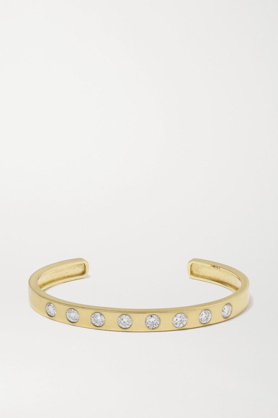 Octavia Elizabeth Bracelet en or recyclé 18 carats et diamants Sanded