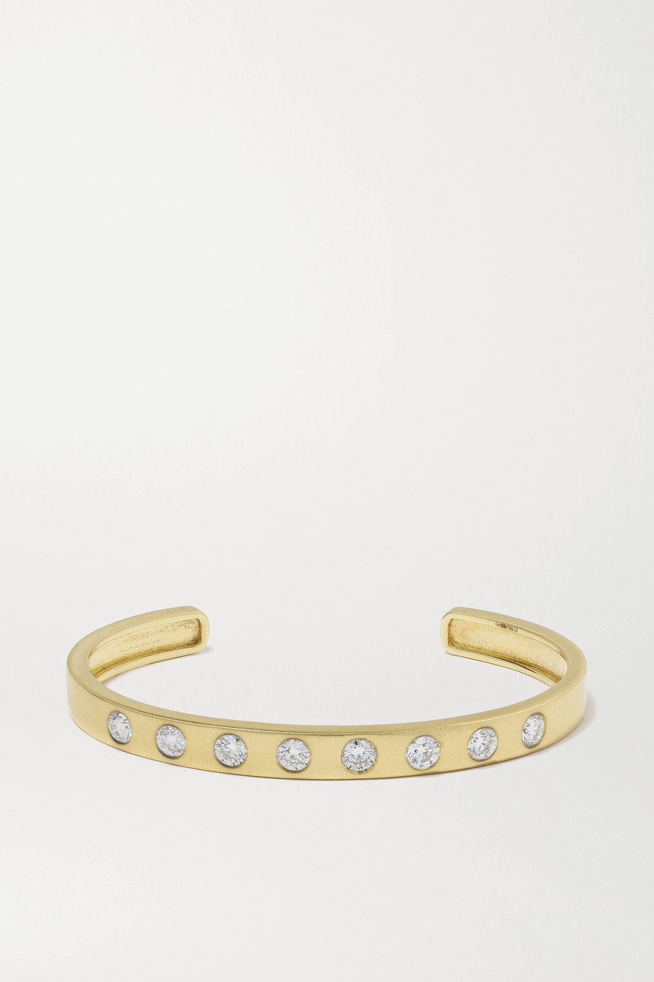 Octavia Elizabeth + NET SUSTAIN Sanded 18-karat recycled gold diamond cuff