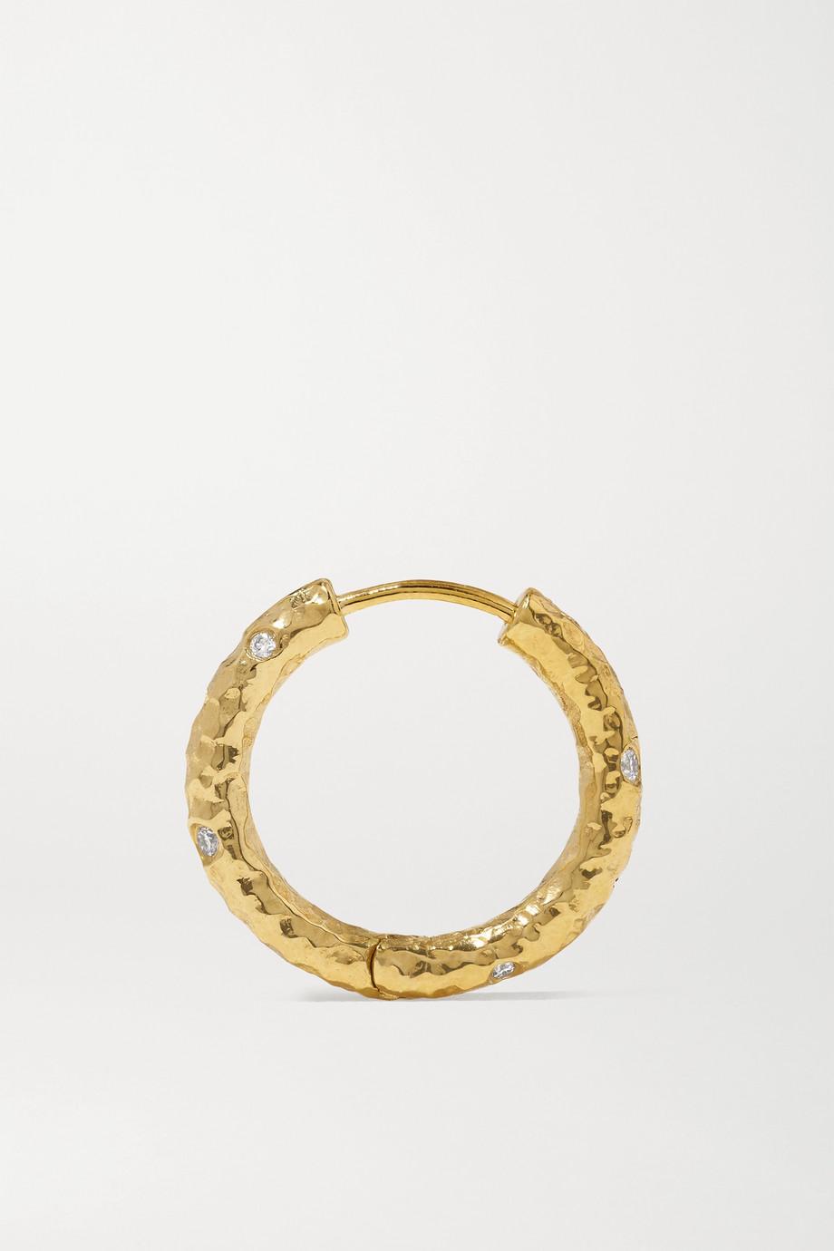 Octavia Elizabeth Nesting Gem Gabby 18-karat gold diamond hoop earrings